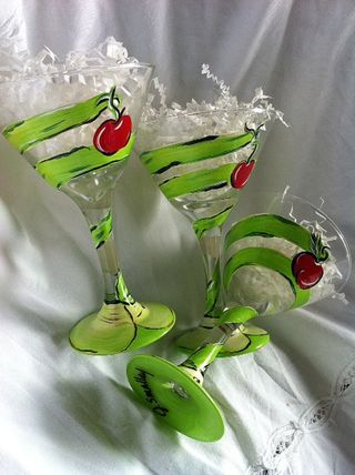 Apple martini Glasses