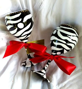 Zebra wine glasses