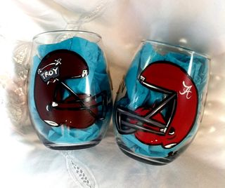 Troy University VS. University of Alabama Stemless Glasses