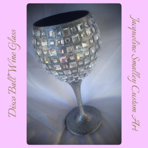 Disco ball wine glass in stock