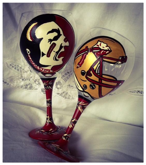 Seminole wine glasses
