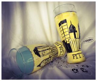 Pittsburgh Skyline Pilsner Glasses