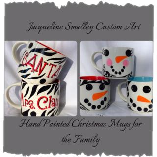 Christmas mugs for the family